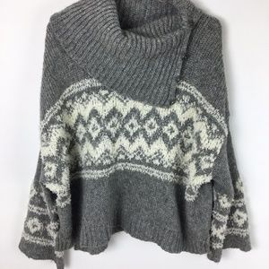 Free People Cowl Neck Oversized Cropped sweater S